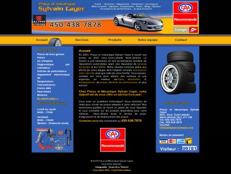 Pneus et mécanique Sylvain Cayer | Garage...
