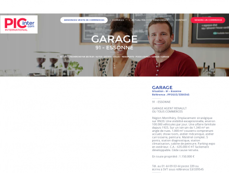 GARAGE À VENDRE (91 - Essonne) - Le site...