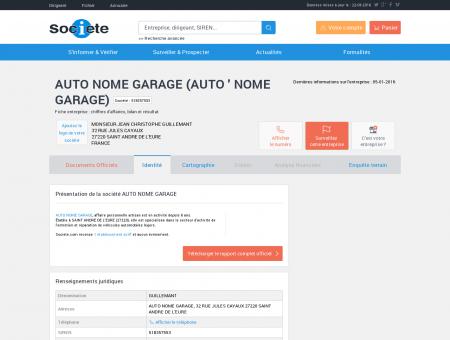 AUTO NOME GARAGE (SAINT ANDRE DE...