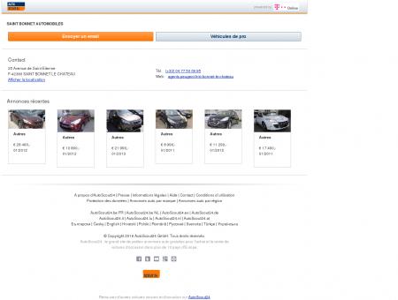 Garage: SAINT BONNET AUTOMOBILES à 25...