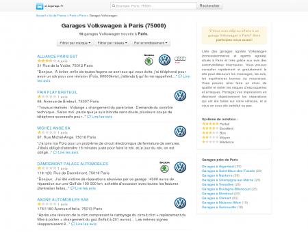 Garage Volkswagen Paris - Comparatif des...
