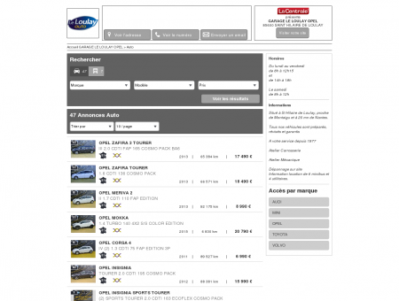 GARAGE LE LOULAY OPEL : Concessionnaire...