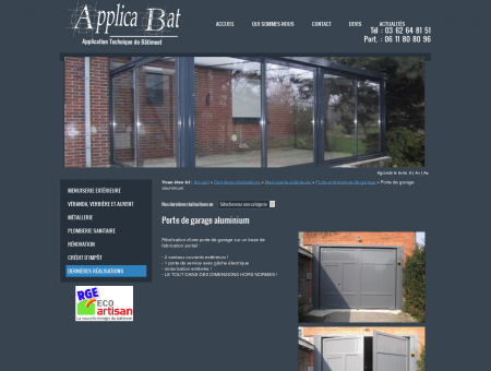 Porte de garage aluminium : Portail et clôture