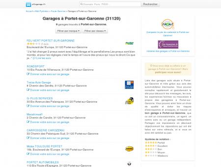 Garage Portet-sur-Garonne - Comparatif des...