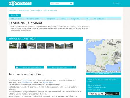 Mairie Saint-Béat, informations sur la ville...