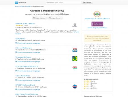 Garage Mulhouse - Comparatif des garages à...