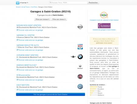 Garage Saint-Gratien (95210) - Comparatif...