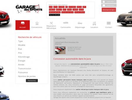 Concession automobile Jura  Garage des Sports