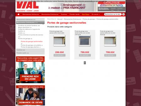 Portes de garage sectionnelles - Vial -...