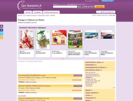 Garage à Valence-sur-Baïse | Les-horaires.fr
