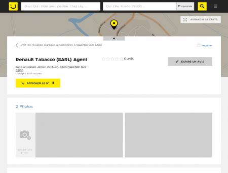 Renault Tabacco Valence sur Baïse (adresse,...