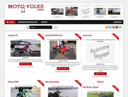 MOTO VOLEE - Les dernières motos volées sur...