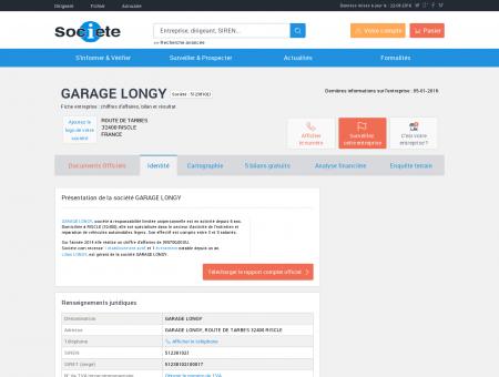 GARAGE LONGY (RISCLE) Chiffre d'affaires,...