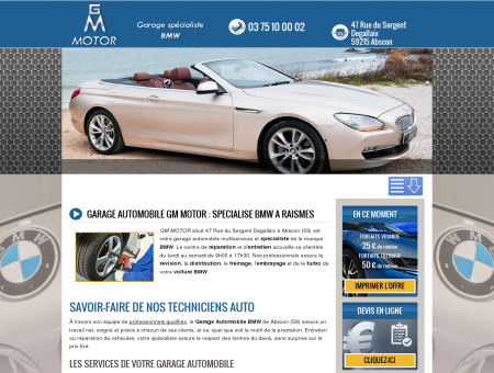 GARAGE AUTOMOBILE GM MOTOR :...