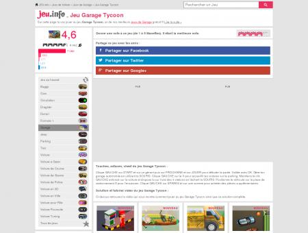 JEU GARAGE TYCOON Gratuit sur JEU .info