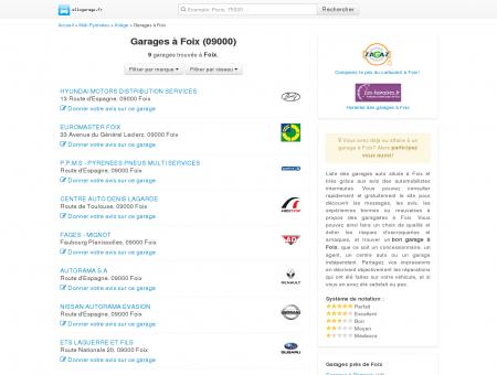 Garage Foix - Comparatif des garages à Foix