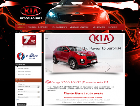 Garage KIA DIJON DESCOLLONGES : vente...