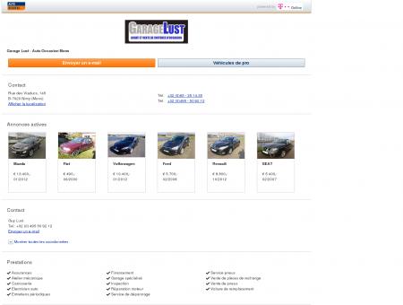 Garage Garage Lust - Auto Occasion Mons: à...