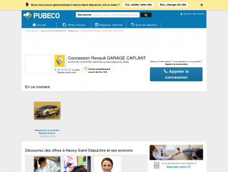 Concession Renault GARAGE CAPLANT -...