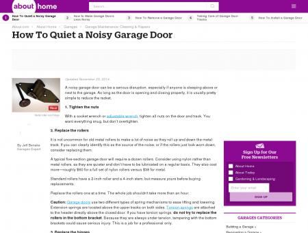 Best Way To Quiet a Noisy Garage Door - About.com Home