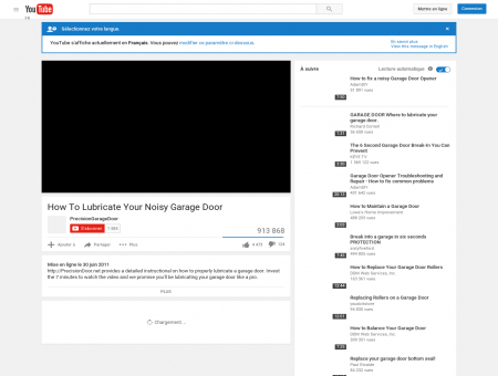 How To Lubricate Your Noisy Garage Door - YouTube
