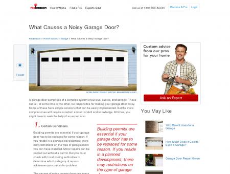 What Causes a Noisy Garage Door | Redbeacon