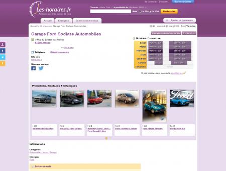 Garage Ford Sodiase Automobiles à Massy |...