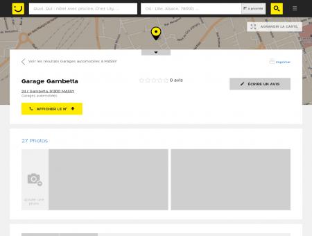 Garage Gambetta Massy (adresse, horaires)