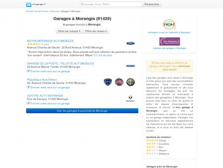 Garage Morangis (91420) - Comparatif des...