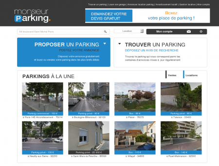 Location parking : louer, vendre un parking,...