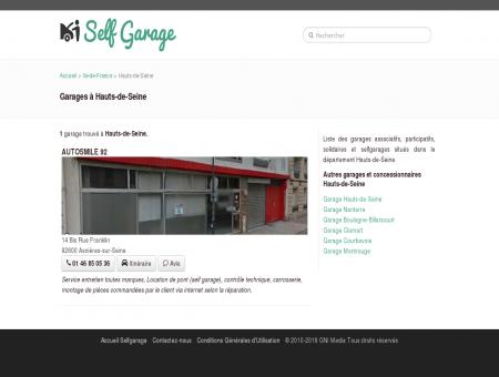 SelfGarage Hauts-de-Seine - Garages...