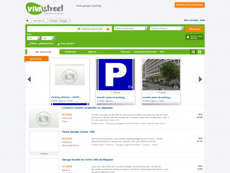 Vente garage et parking - Parkings & garages...