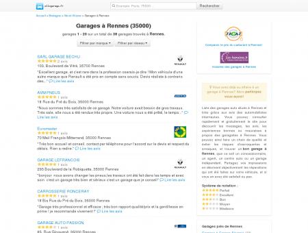 Garage Rennes - Comparatif des garages à...