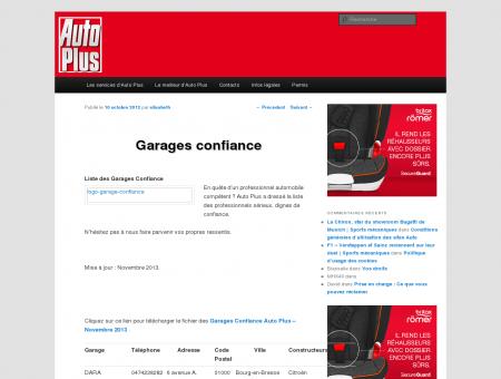Garages confiance | Auto Plus Services