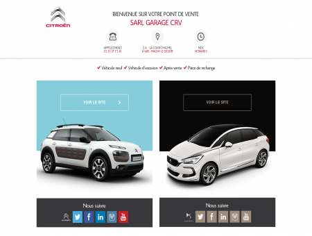 SARL GARAGE CRV : point de vente Citroën et...