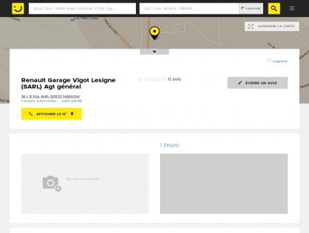 Renault Garage Vigot Lesigne Marigny...