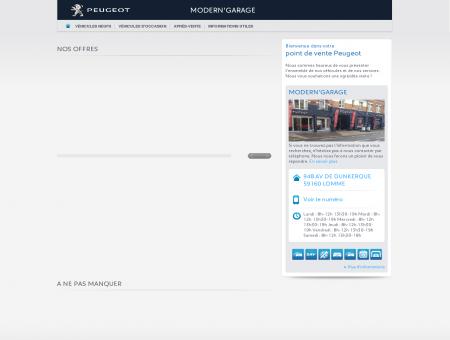 MODERN'GARAGE, Votre point de vente Peugeot