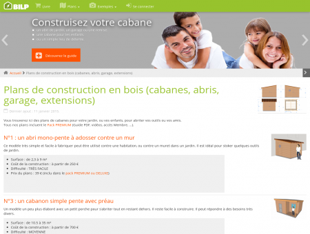 Plans de construction en bois (cabanes, abris,...