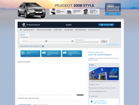 STOCK DE VEHICULES - Garage Peugeot,...