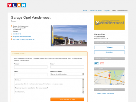 Garage Opel Vanderroost - Enghien | Vlan.be