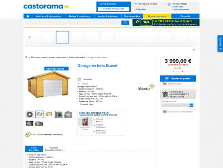 Garage en bois Suomi - CASTORAMA