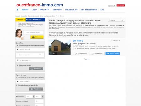Juvigny-sur-Orne : Annonces Vente Garage à...