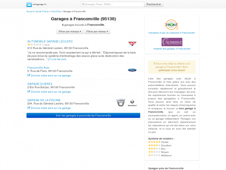 Garage Franconville (95130) - Comparatif des...