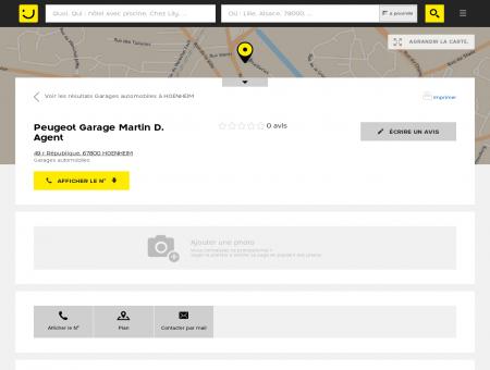 Peugeot Garage Martin D. Hoenheim (adresse,...