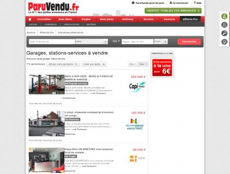 Vente garage, station-service : annonces...