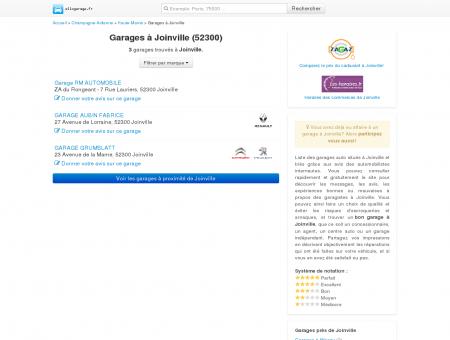 Garage Joinville - Comparatif des garages à...