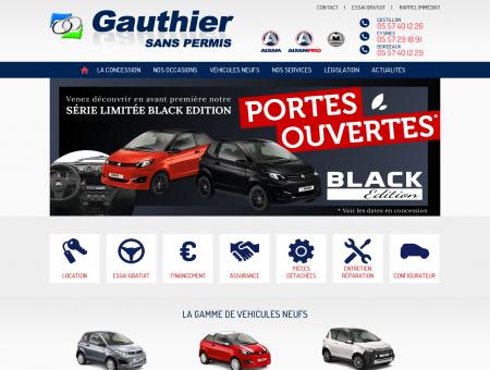 Voiture sans permis à Bordeaux (33)  Gauthier...