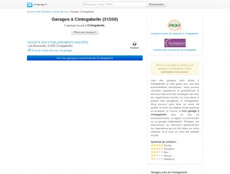 Garage Cintegabelle - Comparatif des...