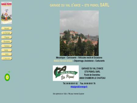 Garage du Val d'Ance, Ets PIGNOL à Chambon...