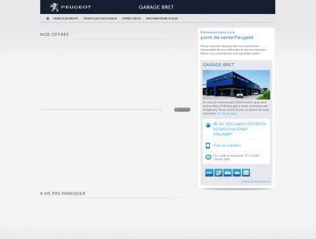 GARAGE BRET, Votre point de vente Peugeot